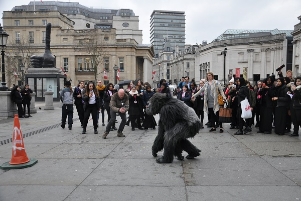 Ugandan Tourism Board plonks Gorilla in Trafalgar Square