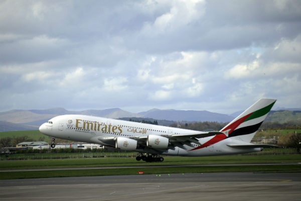 Emirates goes large in Glasgow with first A380 service