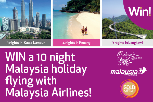 WIN a 10 night Malaysia holiday flying with Malaysia Airlines!