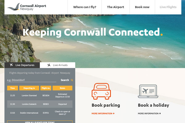 Newquay airport reports 63% jump in passengers