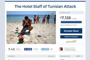 British  holidaymaker raises £7,000 for Tunisia hotel workers