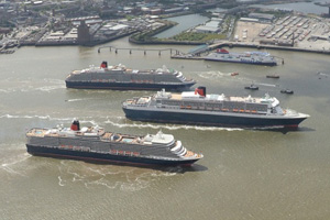 Cunard hopes 'Three Queens' event will put cruise in the spotlight