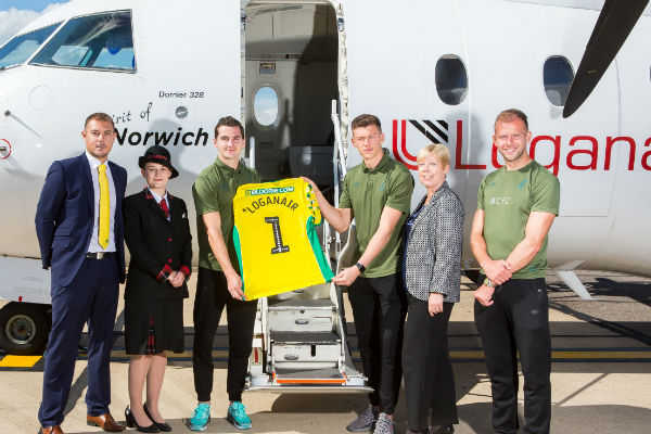 Loganair teams up with Norwich City