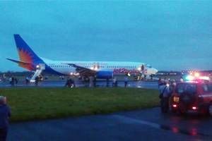 Jet2 flight evacuated at Glasgow airport