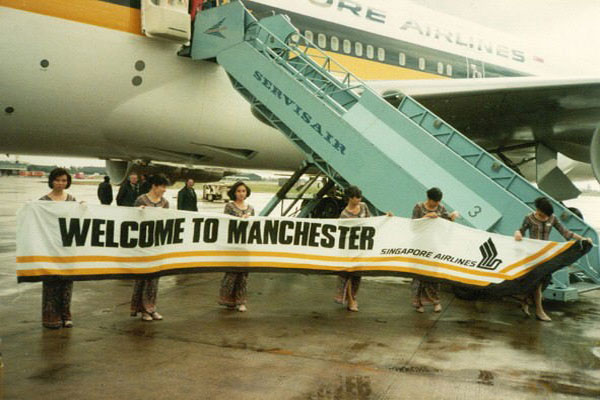 Singapore Airlines releases 30-year-old photos to celebrate Manchester airport anniversary