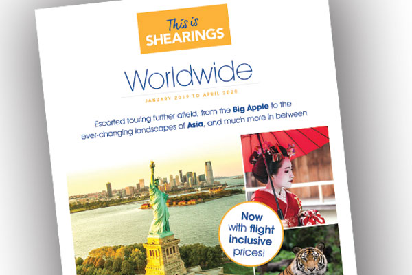 Shearings adds 15 escorted tours to new Worldwide brochure