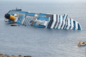 Rescue operation suspended on cruise ship