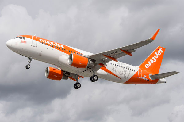 EasyJet passenger numbers up 9% in November