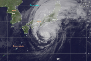 Typhoon claims 13 lives in Japan