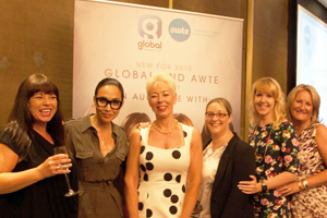 Myleene Klass hails agents at AWTE event