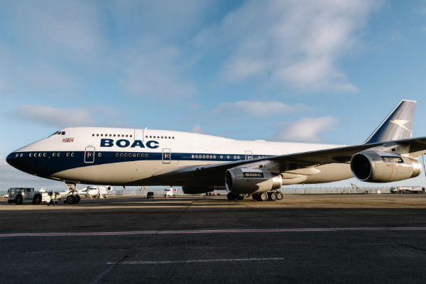 BOAC livery revived on BA jumbo jet