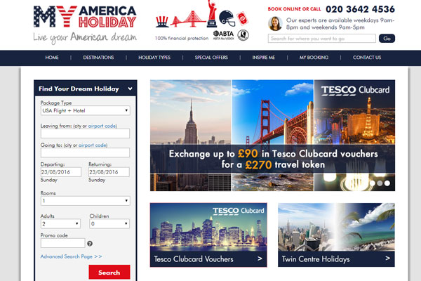Tesco deal lets Clubcard users spend points with My America Holiday