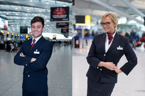 David Walliams, Emma Bunton and Tom Daley become BA crew for Red Nose Day [Video]