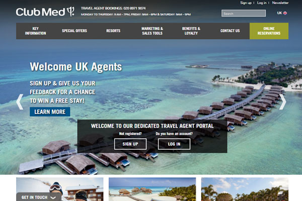 Club Med unveils UK agent portal in bid to boost bookings