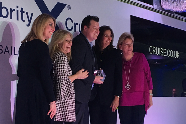Winners of Celebrity Cruises' Travel Agent Appreciation Awards announced