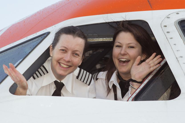 EasyJet deploys 'record' number of all-female pilots on International Women's Day