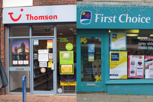 Tui shops become 'Thomson featuring First Choice' in £8m rebrand