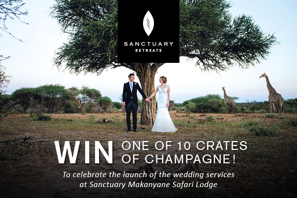 WIN one of 10 crates of Champagne courtesy of Sanctuary Retreats!