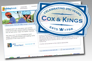 Holidaybreak accepts £312m Cox & Kings takeover bid