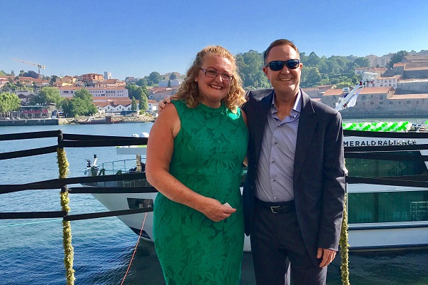 Emerald Waterways christens Radiance with Cruise Village godmother