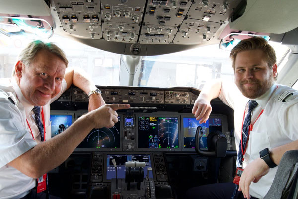 Father and son pilot Norwegian Gatwick-New York service together
