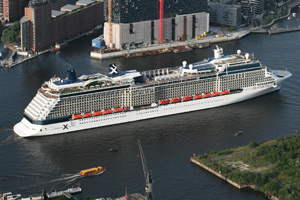 Celebrity Silhouette arrives in Hamburg for official naming