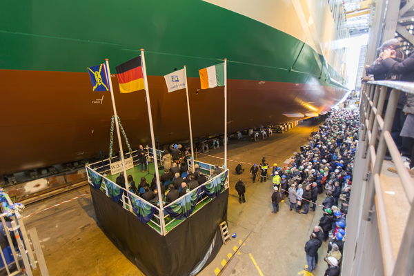 Irish Ferries' vessel W.B. Yeats named at launch event in Germany