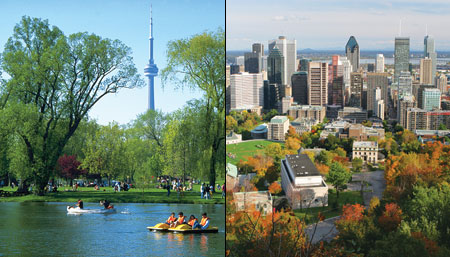 Canadian cities: Montreal vs Toronto