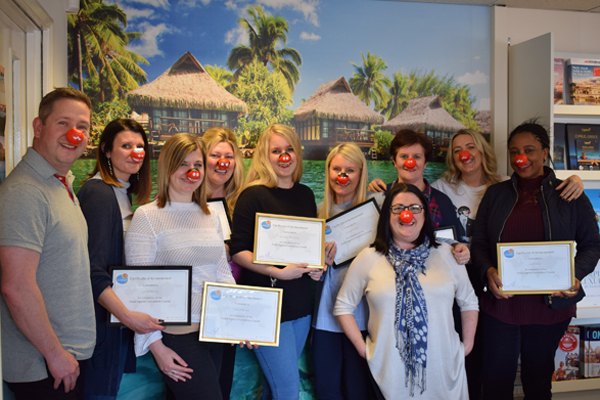 Travel industry dons red noses for Comic Relief