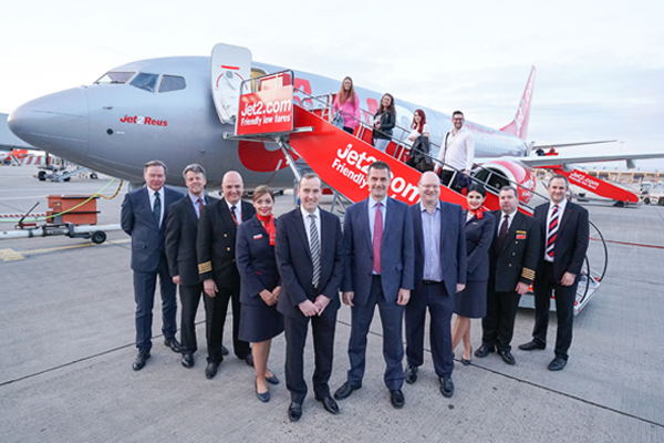 First Jet2.com Stansted and Birmingham flights take off