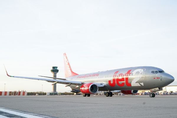 Jet2.com awarded 5-star rating by OAG for on-time performance