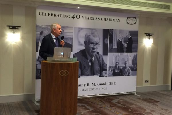 Anthony Good celebrates 40 years as Cox & Kings chairman