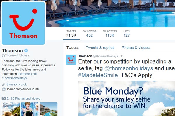 Thomson holiday giveaway aims to cheer up 'Blue Monday'