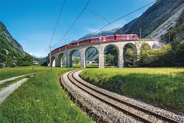 Switzerland: scenic rail journeys
