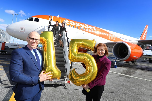 EasyJet celebrates 15 years at Newcastle airport