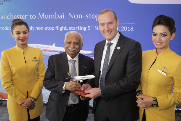 Jet Airways to serve Mumbai from Manchester
