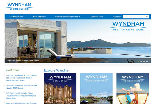 Wyndham Worldwide to spin off hotels business