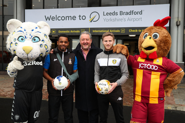 Leeds Bradford airport forges charity partnerships with local football clubs