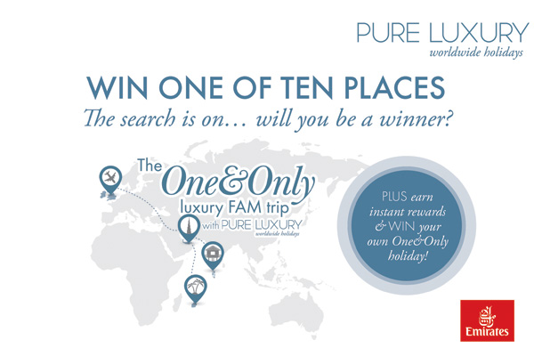 Win one of ten places on a One&Only luxury FAM trip