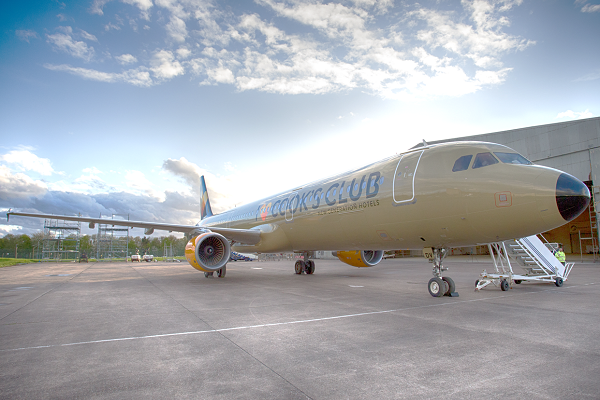 Thomas Cook splashes own-brand hotel names on side of aircraft