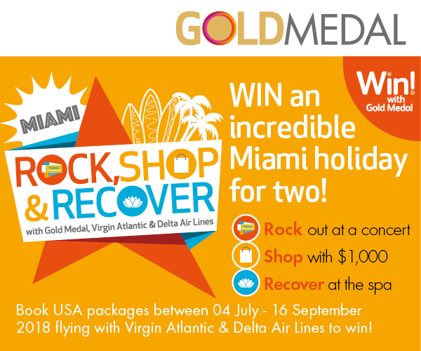 Win an incredible Miami holiday for two with Gold Medal