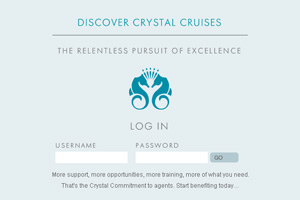 Crystal Cruises offers web incentive to agents
