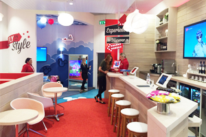 Virgin unveils its first v-room store