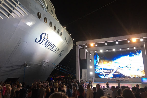 Symphony of the Seas named in Miami
