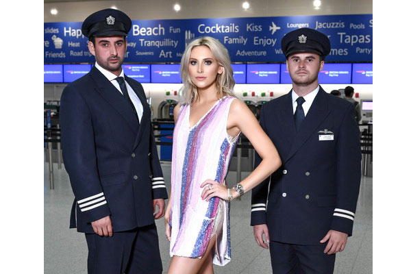Made in Chelsea star promotes new BA Gatwick California route