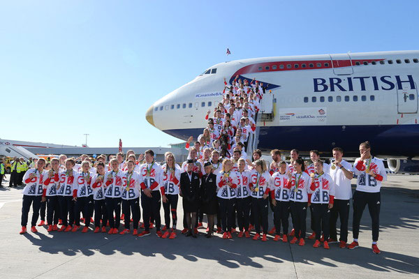 BA flies Team GB home on gold-nosed 'VictoRIOus' aircraft