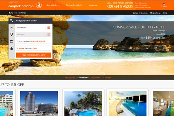 EasyJet Holidays announces discounts of up to £100