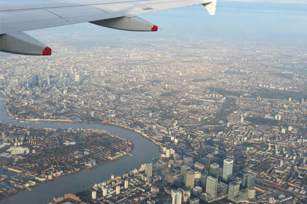 London air arrivals lagging 3.5% against last year