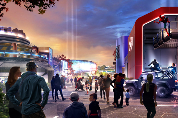 Image of revamped Marvel-themed area at Walt Disney Studios Park released