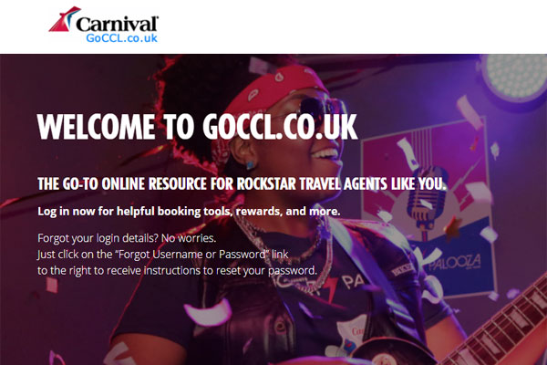 Carnival Cruise Line launches revamped travel agent site GoCCL.co.uk